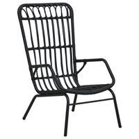 vidaXL Garden Chair Poly Rattan Black