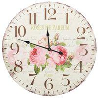 vidaXL Vintage Wall Clock Flower 60 cm