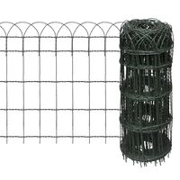 vidaXL Garden Border Fence Powder-coated Iron 10x0,65 m