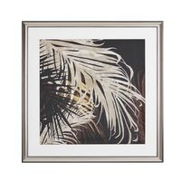 Framed Wall Art 60 x 60 cm Gold and Brown TOGBO