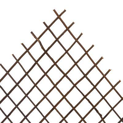 vidaXL Garden Trellis Fences 5 pcs 170x105 cm Willow