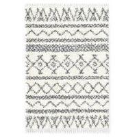 vidaXL Rug Berber Shaggy PP Beige and Grey 120x170 cm