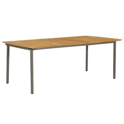 vidaXL Garden Table 200x100x72cm Solid Acacia Wood and Steel