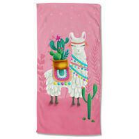 Good Morning Beach Towel LALAMA 75x150 cm Pink