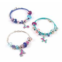 make it real 27 Piece Bracelets Making Studio Halo Charms True Blue