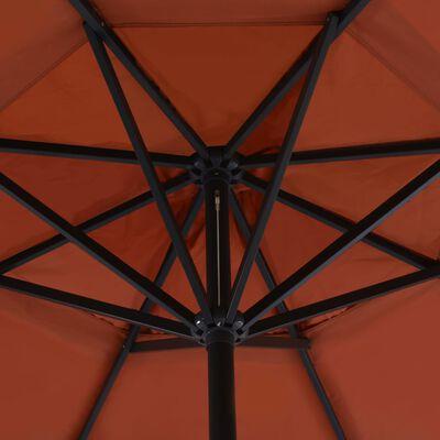 vidaXL Outdoor Umbrella with Portable Base Terracotta