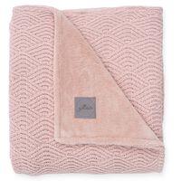 Jollein Blanket River Knit 100x150 cm Fleece Pale Pink