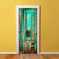 Walplus Door Mural Sticker Vintage Timber, Home Decoration, Decal