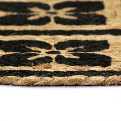 vidaXL Placemats 4 pcs Black 38 cm Round Jute
