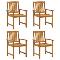 vidaXL Director's Chairs 4 pcs Solid Acacia Wood