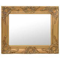 vidaXL Wall Mirror Baroque Style 50x40 cm Gold