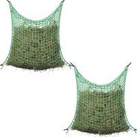 vidaXL Hay Nets 2 pcs Square 0.9x3 m PP