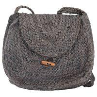 vidaXL Shoulder Bag Anthricate Grey Handmade Jute