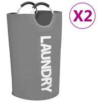 vidaXL Laundry Sorter 2 pcs Grey