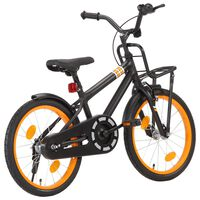 vidaXL Kids Bike with Front Carrier 18 inch Black and Orange
