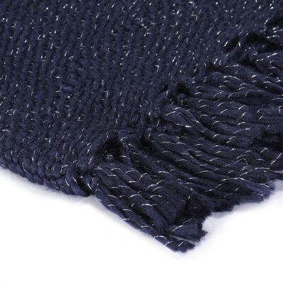 vidaXL Throw Lurex 220x250 cm Navy Blue