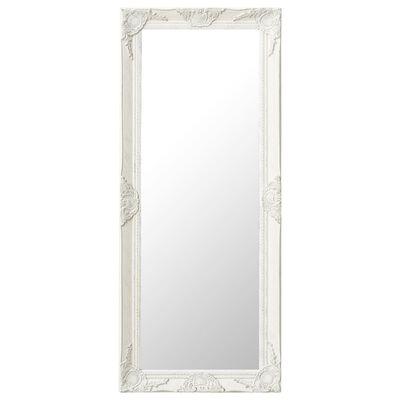 vidaXL Wall Mirror Baroque Style 50x120 cm White