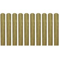vidaXL 30 pcs Impregnated Fence Slats Wood 60 cm