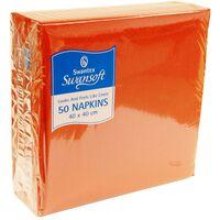 Swantex Terracotta Orange Swansoft Napkins 40cm - 1 x 50
