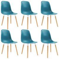 vidaXL Dining Chairs 6 pcs Turquoise Plastic
