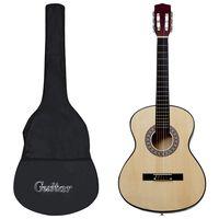 "vidaXL Classical Guitar for Beginner with Bag 3/4 36"""
