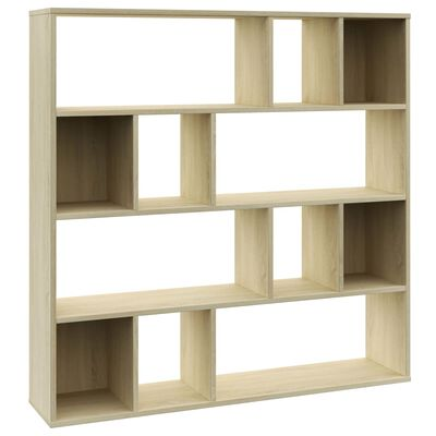 vidaXL Room Divider/Book Cabinet Sonoma Oak 110x24x110 cm Chipboard