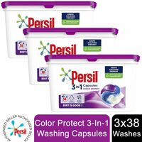 3 Pack Persil 3in1 Washing Capsules, Colour 38 Washes