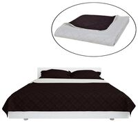 Double-sided Quilted Bedspread Beige/Brown 230 x 260 cm