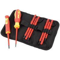 Draper Tools Ten Piece VDE Insulated Screwdriver and Blade Set 05721