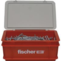 Fischer Nail Screw Set with Plugs N6x80 300pcs