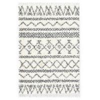 vidaXL Rug Berber Shaggy PP Beige and Grey 160x230 cm