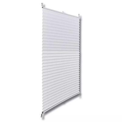 Plisse Blind 40x100cm White Pleated Blind