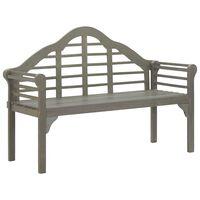 vidaXL Garden Bench Grey Wash 135 cm Solid Acacia Wood