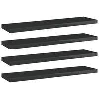 vidaXL Bookshelf Boards 4 pcs High Gloss Black 40x10x1.5 cm Chipboard