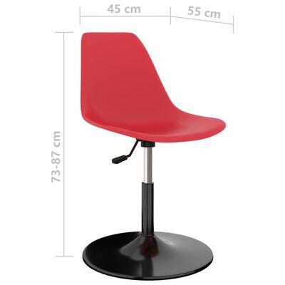 vidaXL Swivel Dining Chairs 4 pcs Red PP