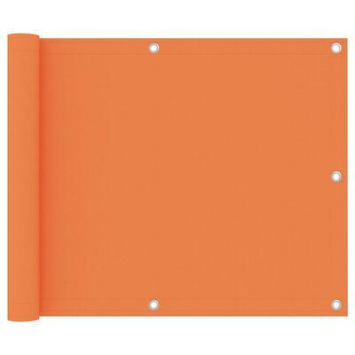 vidaXL Balcony Screen Orange 75x600 cm Oxford Fabric