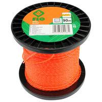FLO Grass Trimmer Line Silent 2mm 90m Orange