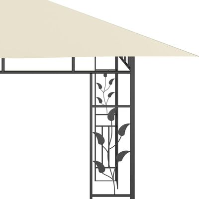 vidaXL Gazebo with Mosquito Net 4x3x2.73 m Cream 180 g/m²