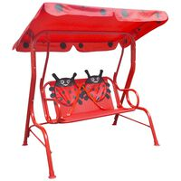 vidaXL Kids Swing Seat Red