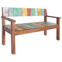 vidaXL Bench Solid Reclaimed Boat Wood 125x51x80 cm