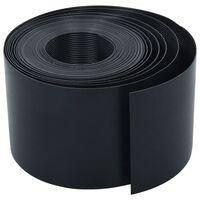 vidaXL Garden Edging Black 10 m 15 cm PE