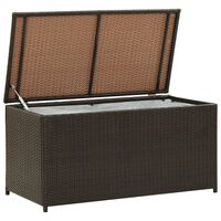 vidaXL Garden Storage Box Poly Rattan 100x50x50 cm Brown