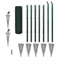 vidaXL Euro Fence Steel 10x1.0 m Green