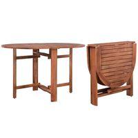 vidaXL Garden Table 120x70x74 cm Solid Acacia Wood