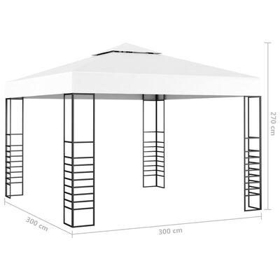 vidaXL Garden Marquee 3x3 m White