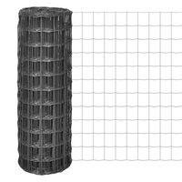 vidaXL Euro Fence Steel 10x1.2 m Grey