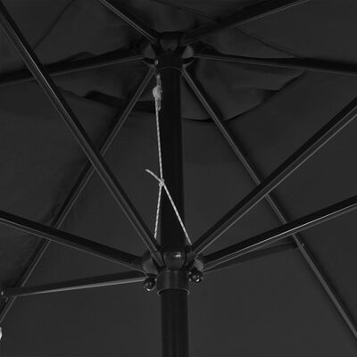 vidaXL Outdoor Parasol with Metal Pole 300x200 cm Anthracite