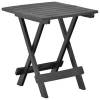 vidaXL Folding Garden Table Anthracite 45x43x50 cm Plastic