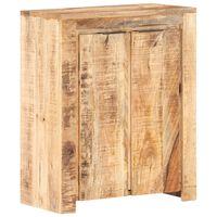 vidaXL Sideboard 59x33x75 cm Rough Mango Wood