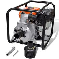 vidaXL Petrol Engine Water Pump 80 mm Connection 6.5 HP